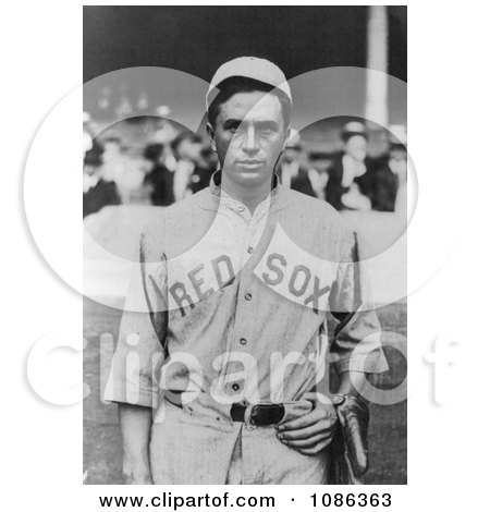 Harry Bartholomew Hooper of the Boston Red Sox Baseball Team in Uniform - Free Historical Baseball Stock Photography by JVPD