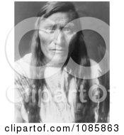 Head Dress An Atsina Indian Man Free Historical Stock Photography by JVPD