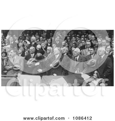 Herbert Hoover, Baseball Game - Free Historical Baseball Stock Photography by JVPD