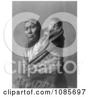 Hidatsa Indian Mother With A Baby On Her Back Free Historical Stock Photography