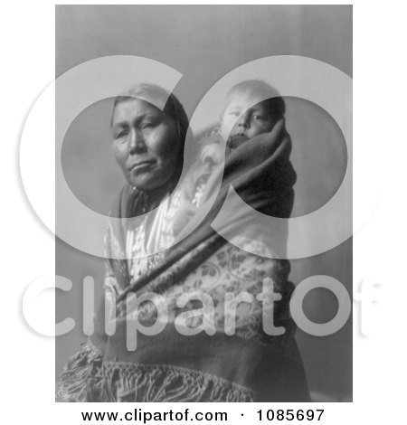 Hidatsa Indian Mother With a Baby on Her Back - Free Historical Stock Photography by JVPD