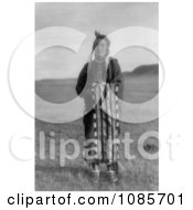 Hidatsa Native Man Wrapped In A Blanket Free Historical Stock Photography