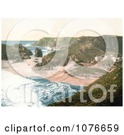 Historical Beachfront Buildings At Kynance Cove In Cornwall England United Kingdom Royalty Free Stock Photography