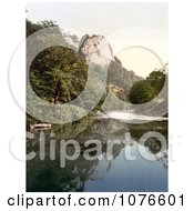 Historical Boat On The River Derwent Near The High Tor In Matlock Derbyshire England Royalty Free Stock Photography