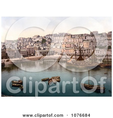 Historical Boats in the Harbour of Brixham, Devon, England, United Kingdom - Royalty Free Stock Photography  by JVPD