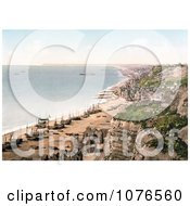 Historical Boats On The Beach And The Coastline Of Hastings Sussex England Royalty Free Stock Photography