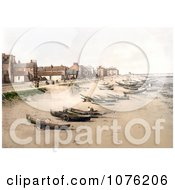 Historical Boats On The Beach The Esplanade And The Pier In Redcar North Yorkshire England UK Royalty Free Stock Photography