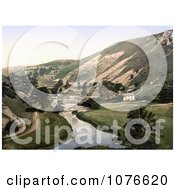 Historical Building And Road Along The Wye River In Mansal Dale Derbyshire England Royalty Free Stock Photography