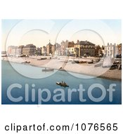 Historical Buildings And Boats At The Waterfront Of Deal Kent England Royalty Free Stock Photography