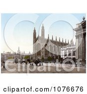 Historical Carriages In Front Of The KingS College Chapel In Cambridge Cambridgeshire England United Kingdom Royalty Free Stock Photography