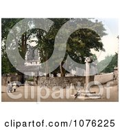 Historical Children Playing Near St AlkeldaS Church In Giggleswick North Yorkshire England UK Royalty Free Stock Photography