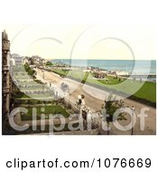 Historical Coastal Buildings Lawns And Street At Clacton On Sea Essex England Royalty Free Stock Photography