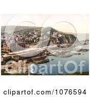 Historical Coastal Hotels And Town Of Ilfracombe In Devon England Royalty Free Stock Photography