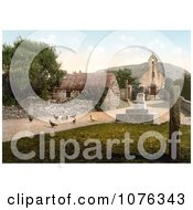 Historical Free Range Chickens At The St Maughold Church In Ramsey Isle Of Man England Royalty Free Stock Photography