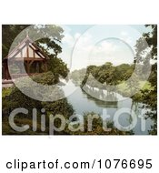 Historical Gazebo Or Bandstand On The Bank Of The River Dee In Chester Cheshire England UK Royalty Free Stock Photography