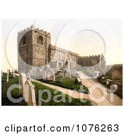 Historical Gravestones At The St MaryS Church In Whitby North Yorkshire England United Kingdom Royalty Free Stock Photography