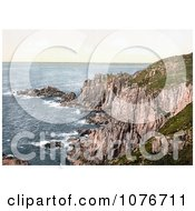 Historical LandS End Of The Penwith Peninsula In Penzance Cornwall England Royalty Free Stock Photography