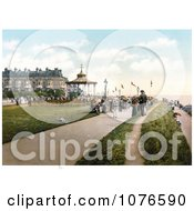 Historical LeeS Promenade And The Bandstand In Folkestone Kent England Royalty Free Stock Photography by JVPD