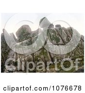 Historical Logan Rock Treen Penzance Penwith Cornwall England United Kingdom Royalty Free Stock Photography