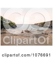 Historical Man On The Beach At Port Isaac Port Gavern Cornwall England United Kingdom Royalty Free Stock Photography