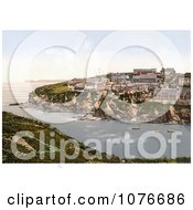 Historical North East View From Port Isaac Cornwall England United Kingdom Royalty Free Stock Photography