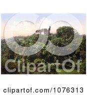 Historical Okehampton Castle On Top Of A Hill Devon England UK Royalty Free Stock Photography