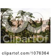 Historical Overgrown Ivy On The Exterior Walls Of The Berkeley Castle In Stroud Gloucestershire England UK Royalty Free Stock Photography