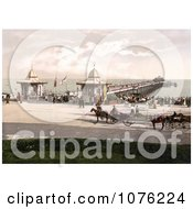 Historical People And Carriages At The Worthing Pier In Worthing West Sussex England UK Royalty Free Stock Photography