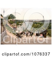 Historical People On The Bridge And Road At The Gap In Margate Thanet Kent England UK Royalty Free Stock Photography