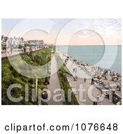 Historical People Strolling On The Promenade At Clacton On Sea Essex England Royalty Free Stock Photography