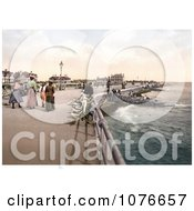 Historical People Strolling The New East Parade Promenade In Bognor Regis England Royalty Free Stock Photography