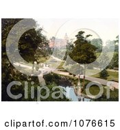 Historical People Strolling Through The Valley Gardens In Harrogate North Yorkshire England Royalty Free Stock Photography