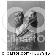 Historical Photo Of A Hidatsa Mother With A Baby On Her Back by JVPD