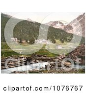 Historical Photochrome Hotel In Sulden Tyrol Austria Royalty Free Stock Photography