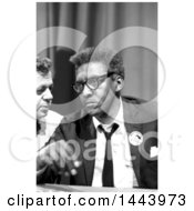 Historical Photograph Of Bayard Rustin At News Briefing On The Civil Rights March On Washington