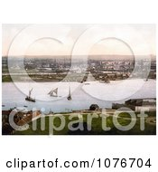 Historical Sailboats And Steamships At The Dockyard On The River Medway In Chatham Kent England UK Royalty Free Stock Photography by JVPD