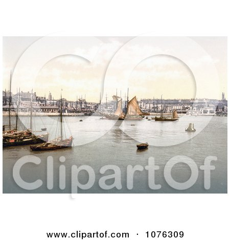 Historical Ships in the Harbour in Ramsgate Thanet Kent England UK - Royalty Free Stock Photography  by JVPD