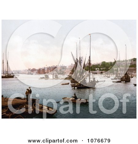 Historical Ships on the River Medway in Chatham, Kent, England, United Kingdom - Royalty Free Stock Photography  by JVPD