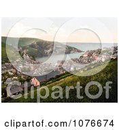 Historical South West View From Port Isaac In Cornwall England UK Royalty Free Stock Photography
