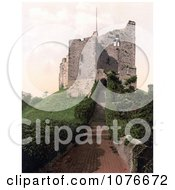 Historical Stairs And Hedges At The Keep Of Arundel Castle West Sussex England Royalty Free Stock Photography