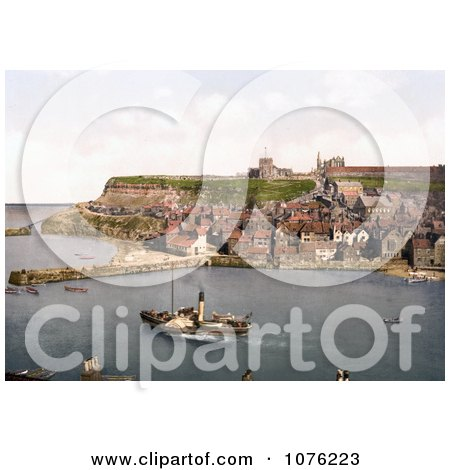 Historical Steamboat in the Harbor at Whitby North Yorkshire England UK - Royalty Free Stock Photography  by JVPD