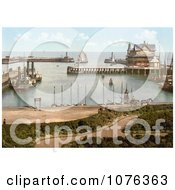 Historical Steamer And Sailboats In The Harbour Of Lowestoft Waveney Suffolk East Anglia England UK Royalty Free Stock Photography