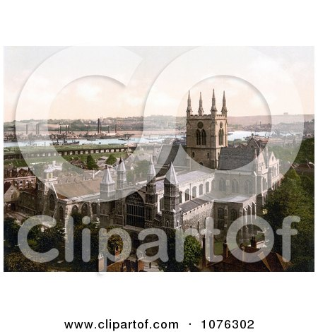 Historical Steamers in the Harbour Near the Cathedral in Rochester Medway Kent England UK - Royalty Free Stock Photography  by JVPD