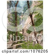 Historical Steps And Paths Through The Chine In Shanklin Isle Of Wight England UK Royalty Free Stock Photography by JVPD