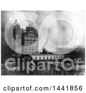Historical Stock Photo Of Buildings On Fire San Francisco 1906 by JVPD