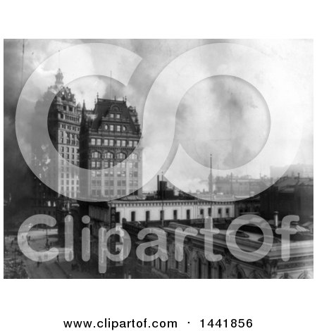 Historical Stock Photo of Buildings on Fire, San Francisco, 1906 by JVPD