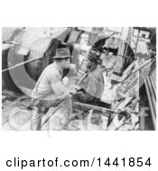 Historical Stock Photo Of Oil Workers On Break
