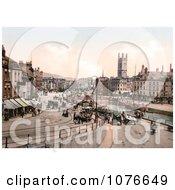 Historical Street Scene Near St AugustineS Bridge In Bristol England Royalty Free Stock Photography
