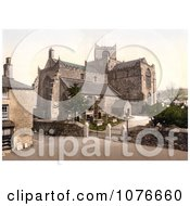 Historical The 12th Century Cartmel Priory Church In Cartmel Cumbria England Royalty Free Stock Photography