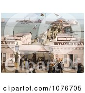 Historical The Admission Stand Baths And Steamers At The Clacton Pier In Clacton On Sea Essex England UK Royalty Free Stock Photography